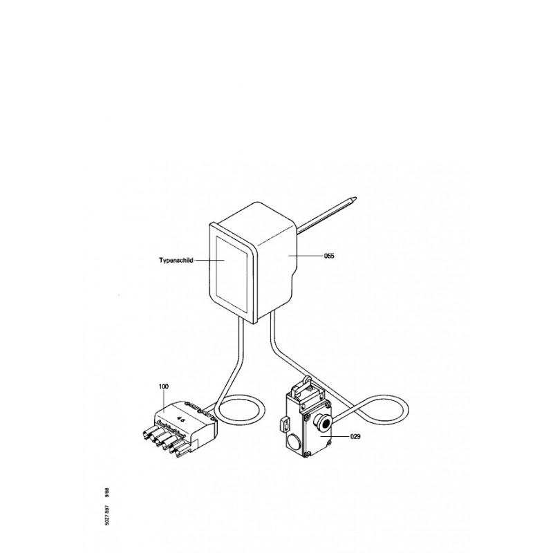 pi ce d tach e viessmann thermostat gaz fumee n 7401798. Black Bedroom Furniture Sets. Home Design Ideas