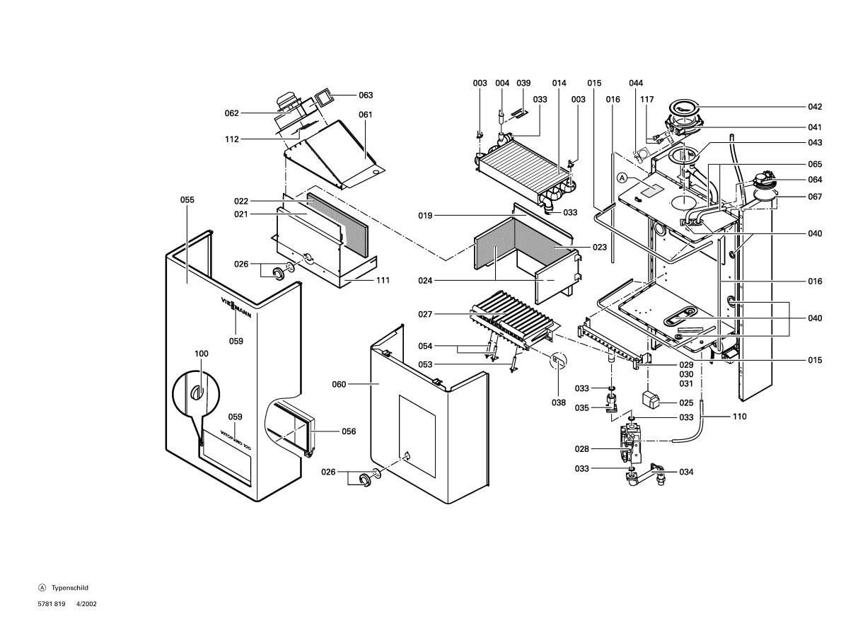 pi ce d tach e viessmann chaudi re whk6 gaz naturel e 28 kw n 7520759. Black Bedroom Furniture Sets. Home Design Ideas