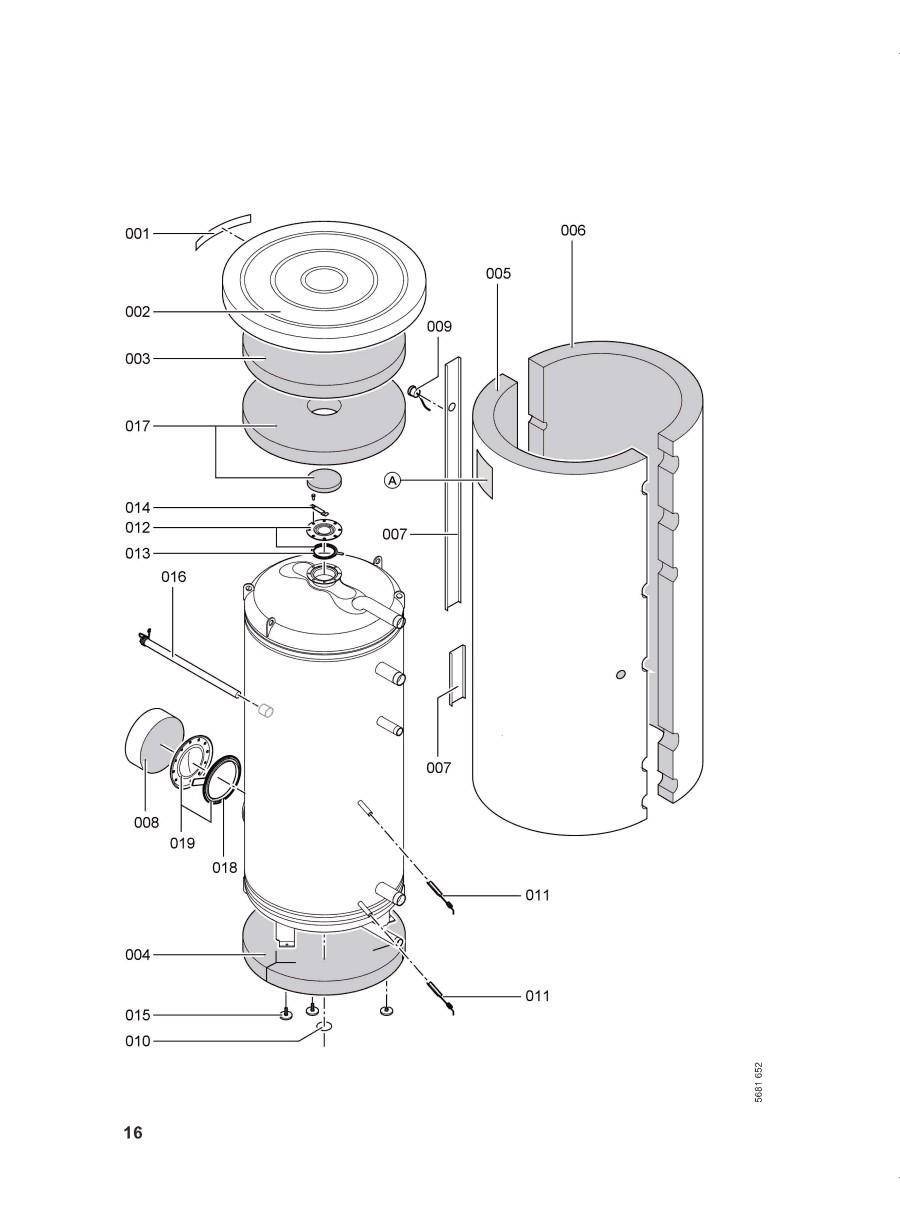 pi ce d tach e viessmann chauffe eau vitocell l 750 lts n 7143715. Black Bedroom Furniture Sets. Home Design Ideas