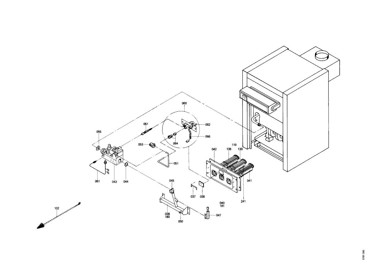 pi ce d tach e viessmann corps chaudiere aha46 n 7518239. Black Bedroom Furniture Sets. Home Design Ideas