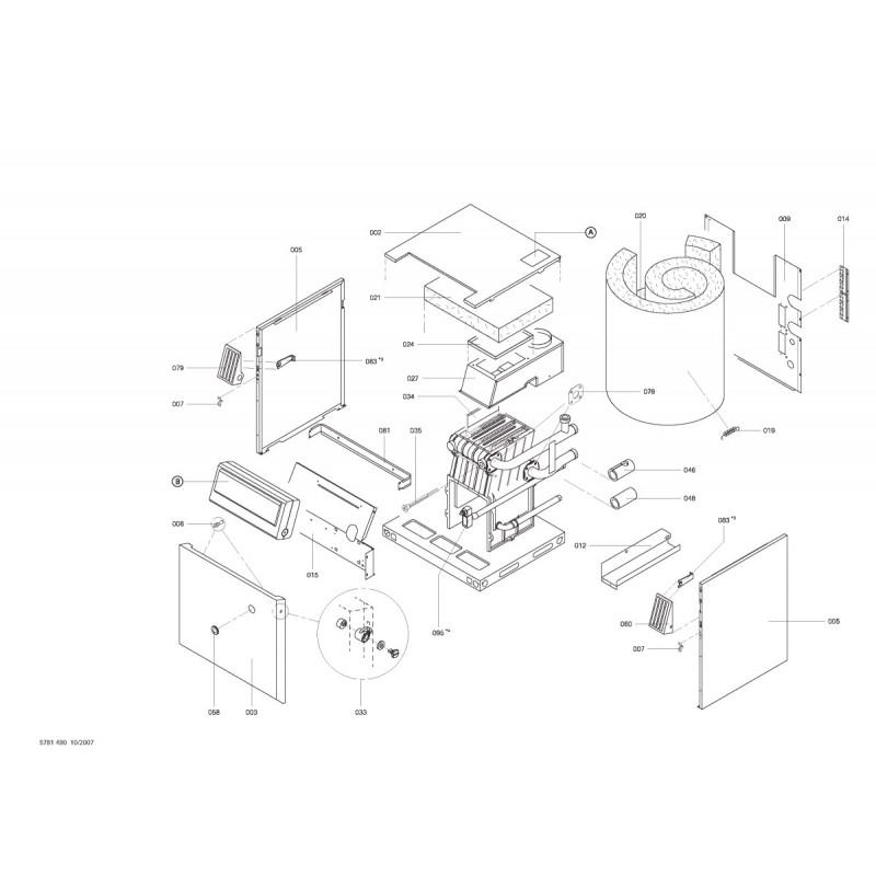 pi ce d tach e viessmann corps chaudi re gaz propane lvr18 n 7520076. Black Bedroom Furniture Sets. Home Design Ideas