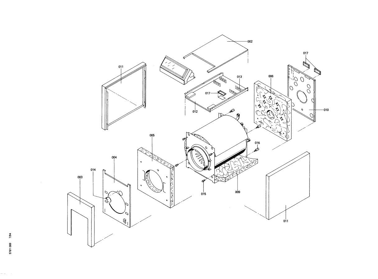 pi ce d tach e viessmann corps chaudiere vbf22 n 7515071. Black Bedroom Furniture Sets. Home Design Ideas