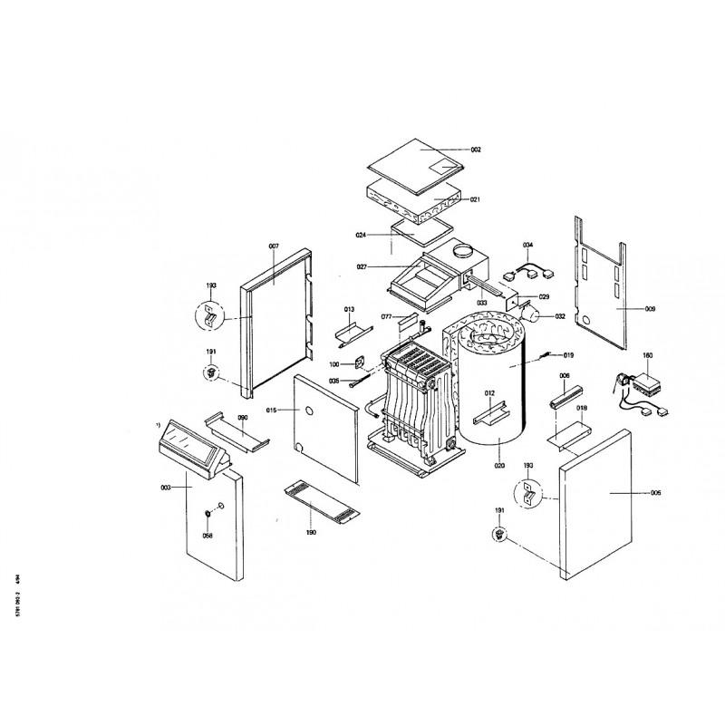 pi ce d tach e viessmann corps de chaudiere gaz naturel n. Black Bedroom Furniture Sets. Home Design Ideas