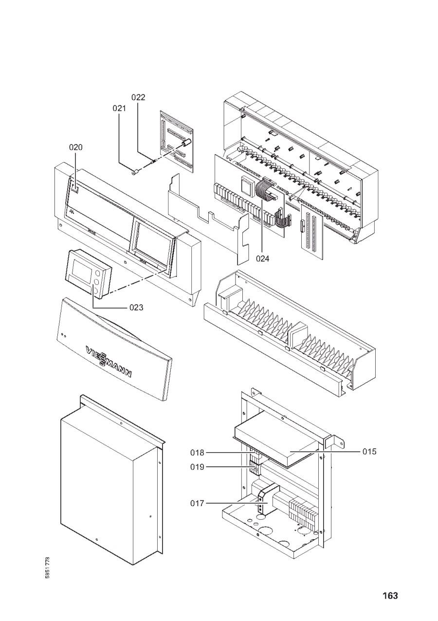 pi ce d tach e viessmann corps vitocal 350 aw 120 n 7190178. Black Bedroom Furniture Sets. Home Design Ideas