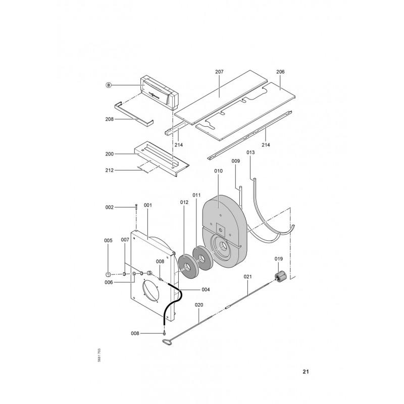 pi ce d tach e viessmann corps vitoplex 200 sx2 560kw n. Black Bedroom Furniture Sets. Home Design Ideas
