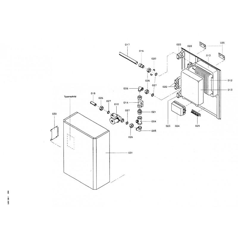 pi ce d tach e viessmann echangeur de chaleur n 7219672. Black Bedroom Furniture Sets. Home Design Ideas