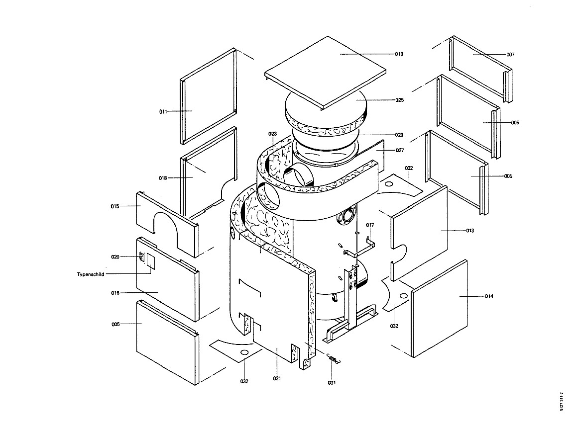 pi ce d tach e viessmann echangeur de chaleur er 500 720kw n 300. Black Bedroom Furniture Sets. Home Design Ideas